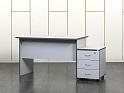 Рабочее место сотрудника. Комплект офисной мебели стол с тумбой 1 200х700х750 ЛДСП Серый (СППСК3-16061)