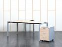Рабочее место сотрудника. Комплект офисной мебели стол с тумбой Ultom 1 800х1 600х730 ЛДСП Зебрано (СПУЗКп1-23090)
